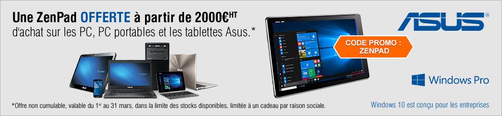 Une Tablette Zenpad Offerte !