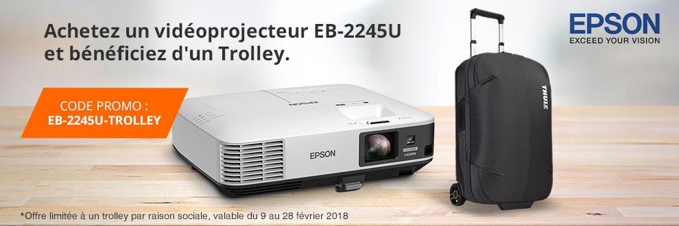 Bénéficiez d'un Trolley Subterra pour l'achat d'un vidéoprojecteur Epson EB-2245U