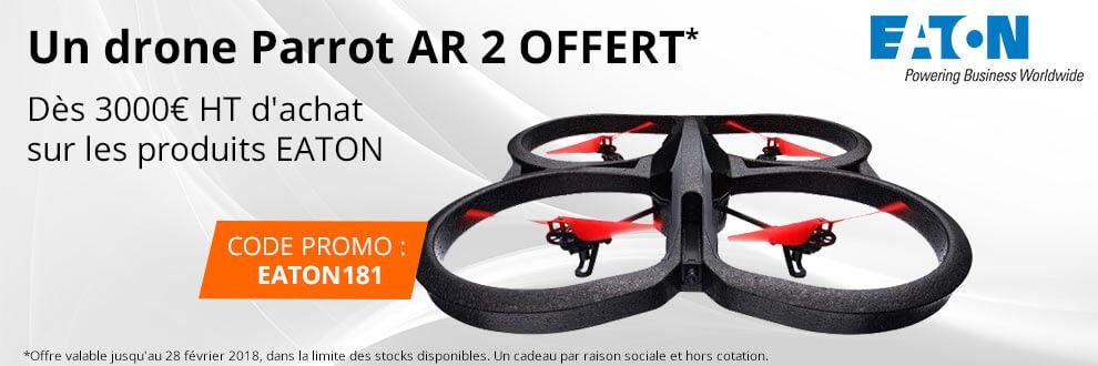 Un drone Parrot AR 2 Offert dès 3000¤ HT d'achat sur les produits EATON
