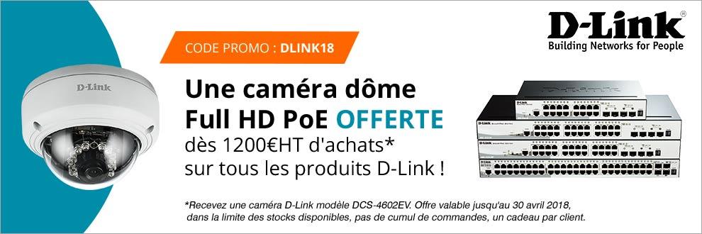 Votre caméra dôme Full PoE offerte !