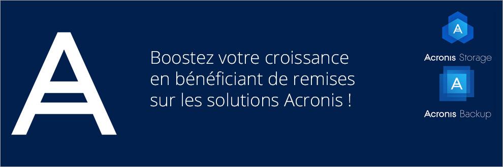 Jusqu'à 55% d'économie sur les solutions Acronis