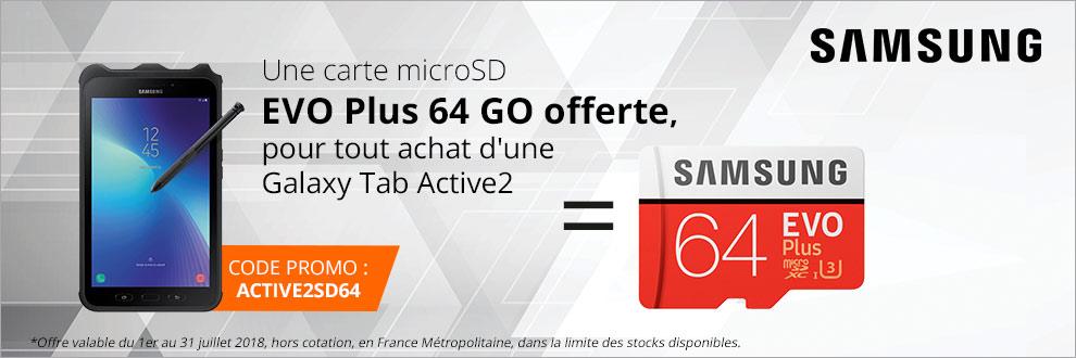 Votre carte microSD EVO Plus 64 GO offerte !