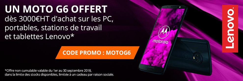 Lenovo vous offre le dernier Moto G6 !