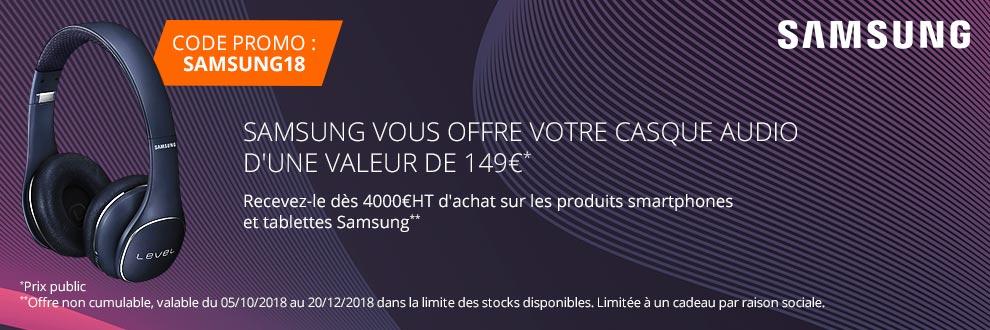Samsung vous offre votre casque audio d'une valeur de 149¤