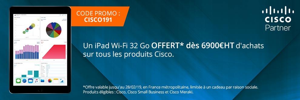Cisco vous offre un iPad Wi-Fi 32 Go !