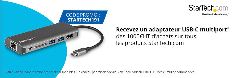 Recevez un adaptateur USB-C multiport* dès 1000¤HT d'achats sur tous les produits StarTech.com