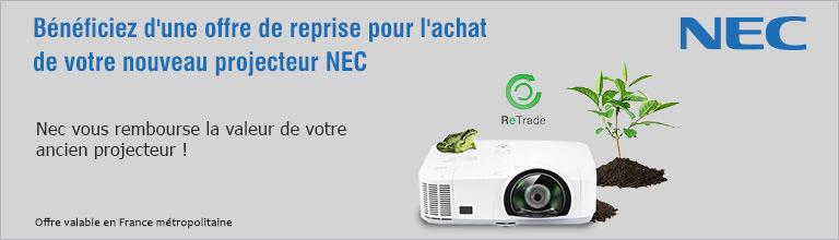 Bénéficiez d'une offre de reprise pour l'achat de votre nouveau projecteur NEC