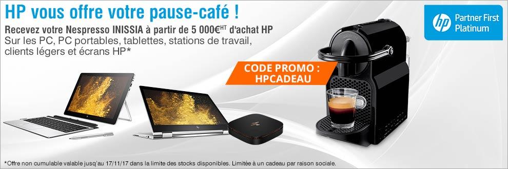 Recevez votre Nespresso INISSIA à partir de 5 000¤HT d'achat HP