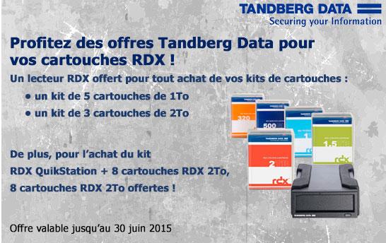 Offre cadeau Tandberg Data RDX
