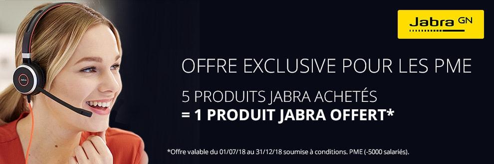 Pour 5 produits achetés, recevez un produit Jabra gratuit !