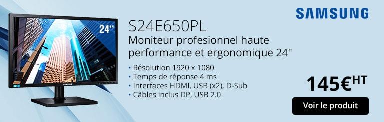 S24E650PL Moniteur profesionnel haute performance et ergonomique 24
