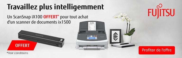 Un ScanSnap iX100 offert pour tout achat d\'un scanner de documents ix1500