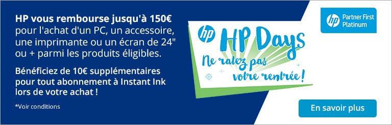 HP Days, ne ratez pas votre rentrée : jusqu\'à 150¤ remboursés !