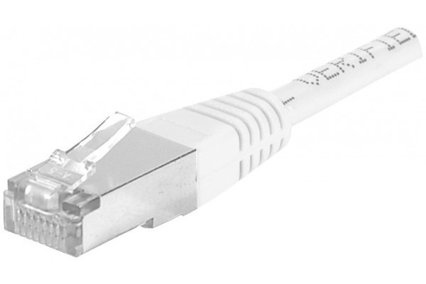 Dexlan Cordon Patch Rj45 F/Utp Cat 6A Blanc - 5 M