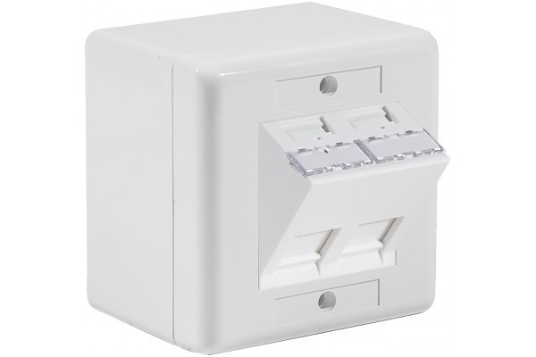 Dexlan Boitier Mural Incliné 30° 2 Rj45 Ftp Cat5E