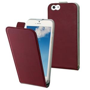 Muvit - étui slim rouge avec un rangement carte - Apple iPhone 6