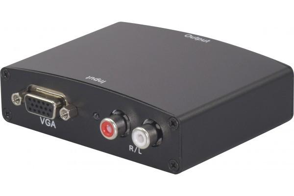 Convertisseur vga+audio (2xRCA) vers HDMI monobloc