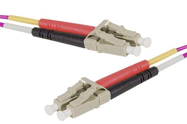 Jarretière optique duplex multimode OM4 50/125 LC-UPC/LC-UPC erika - 0,5 m