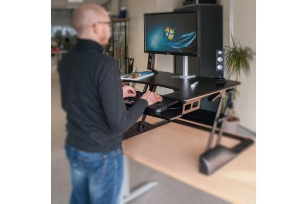 Réhausse de poste de travail réglable assis  / debout
