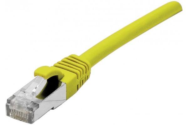 DEXLAN Cordon RJ45 sur câble catégorie 7 S/FTP LSOH snagless jaune - 0,5 m