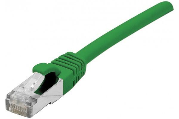 DEXLAN Cordon RJ45 sur câble catégorie 7 S/FTP LSOH snagless vert - 1 m