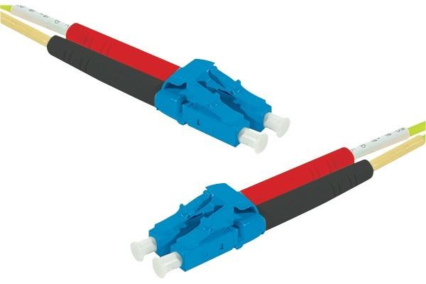 Jarretière optique duplex monomode OS2 9/125 LC-UPC/LC-UPC jaune - 50 m