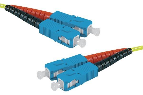 Jarretière optique duplex monomode OS2 9/125 SC-UPC/SC-UPC jaune - 50 m