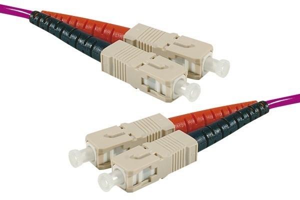 Jarretière optique duplex multimode OM4 50/125 SC-UPC/SC-UPC erika - 50 m