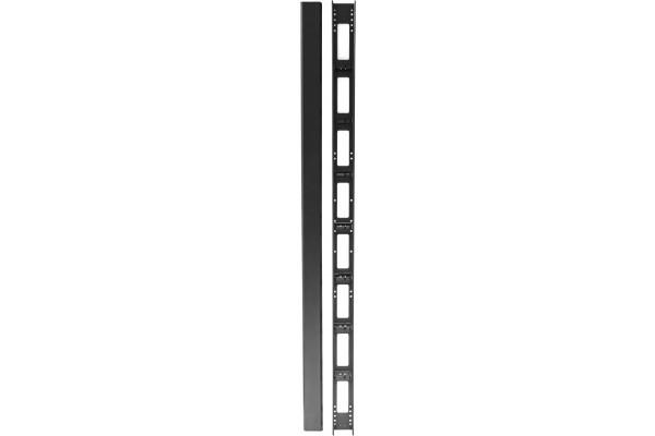 DEXLAN Passe câbles vertical pour baies 800mm 32 u avec capot noir