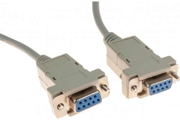 Cable null modem DB9F/F 10M