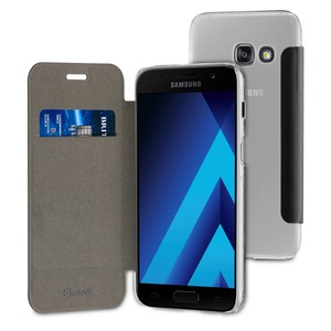 Etui folio case noir pour Samsung Galaxy A3 2017