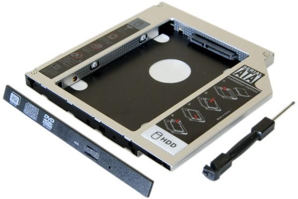 Tiroir lecteur CD ordinateur portable pour disque HDD/SSD 2.5 12,7mm