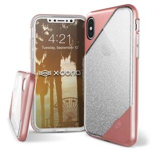 XDORIA COQUE REVEL LUX ROSE GOLD GLITTER POUR IPHONE 8_