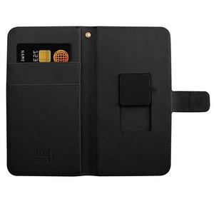 61fadc40b8 Étui folio universel pour smartphone, cuir Saffiano, taille XL, couleur noir