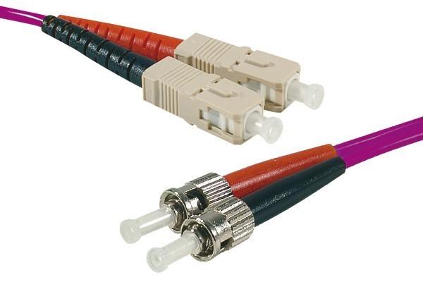 Jarretière optique duplex 2.0 mm multi OM4 50/125 ST-UPC/SC-UPC erika - 1 m