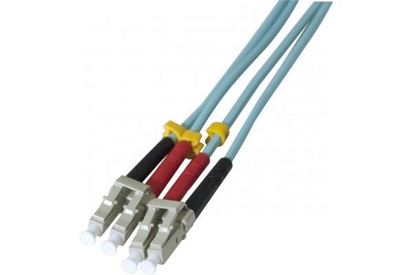 Jarretière optique duplex 2.0 mm multi OM3 50/125 LC-UPC/LC-UPC aqua - 2 m