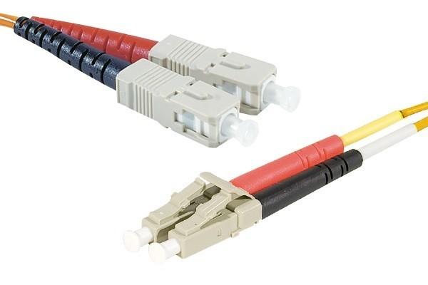 Jarretière optique duplex 2.0 mm multi OM1 62,5/125 SC-UPC/LC-UPC orange - 1 m