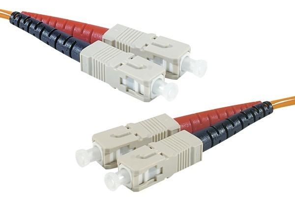Jarretière optique duplex 2.0 mm multi OM2 50/125 SC-UPC/SC-UPC orange - 2 m
