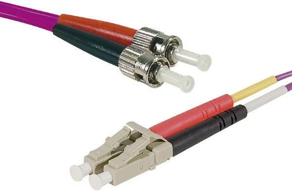 Jarretière optique duplex HD multi OM4 50/125 LC-UPC/ST-UPC erika - 2 m