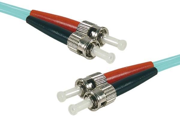 Jarretière optique duplex 2.0 mm multi OM3 50/125 ST-UPC/ST-UPC aqua - 5 m