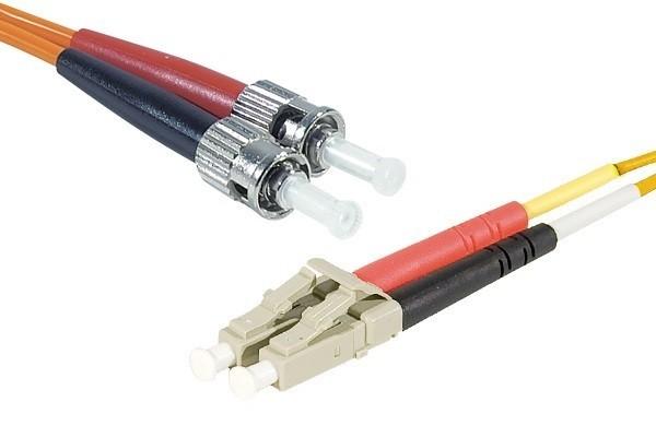 Jarretière optique duplex 2.0 mm multi OM1 62,5/125 LC-UPC/ST-UPC orange - 2 m