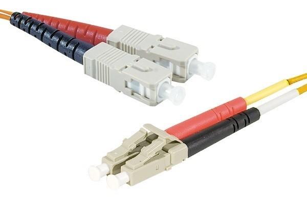 Jarretière optique duplex 2.0 mm multi OM2 50/125 SC-UPC/LC-UPC orange - 2 m