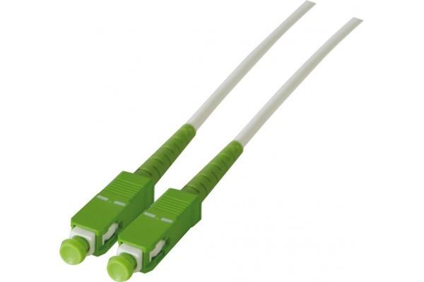 Jarretière optique simplex monomode OS2 9/125 SC-APC/SC-APC blanc - 10 m