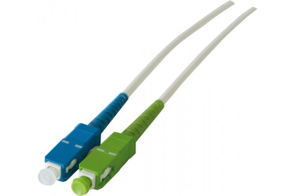 Jarretière optique simplex monomode OS2 9/125 SC-APC/SC-UPC blanc - 7,5 m