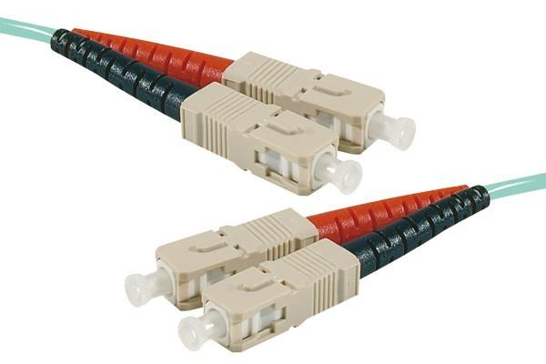 Jarretière optique duplex 2.0 mm multi OM3 50/125 SC-UPC/SC-UPC aqua - 2 m