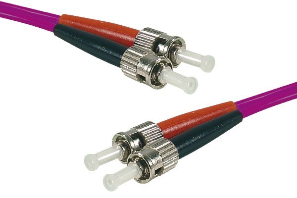 Jarretière optique duplex 2.0 mm multi OM4 50/125 ST-UPC/ST-UPC erika - 3 m