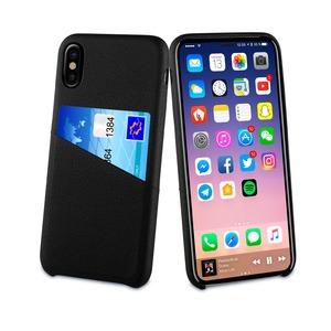 Coque card case, noir, 1 rangement carte, pour Apple Iphone X