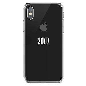 QDOS COQUE 10 ANS 2007-2017 TRANSPARENTE POUR IPHONE X_