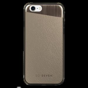 Coque métalique PU + métal, pour Apple Iphone 7/8