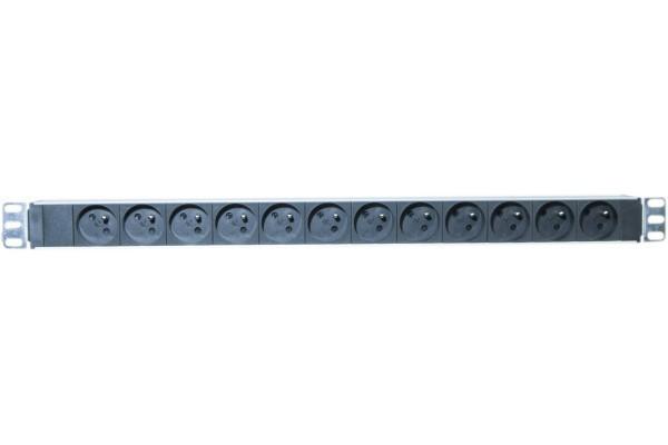 Multiprise rackable 19\'\' verticale 0 U 12 prises